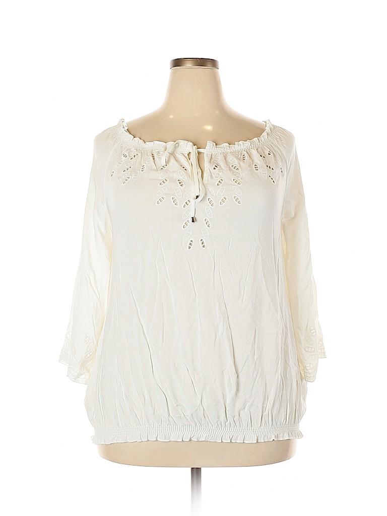 City Chic Women 3/4 Sleeve Blouse Size 18 Plus (M) (Plus)