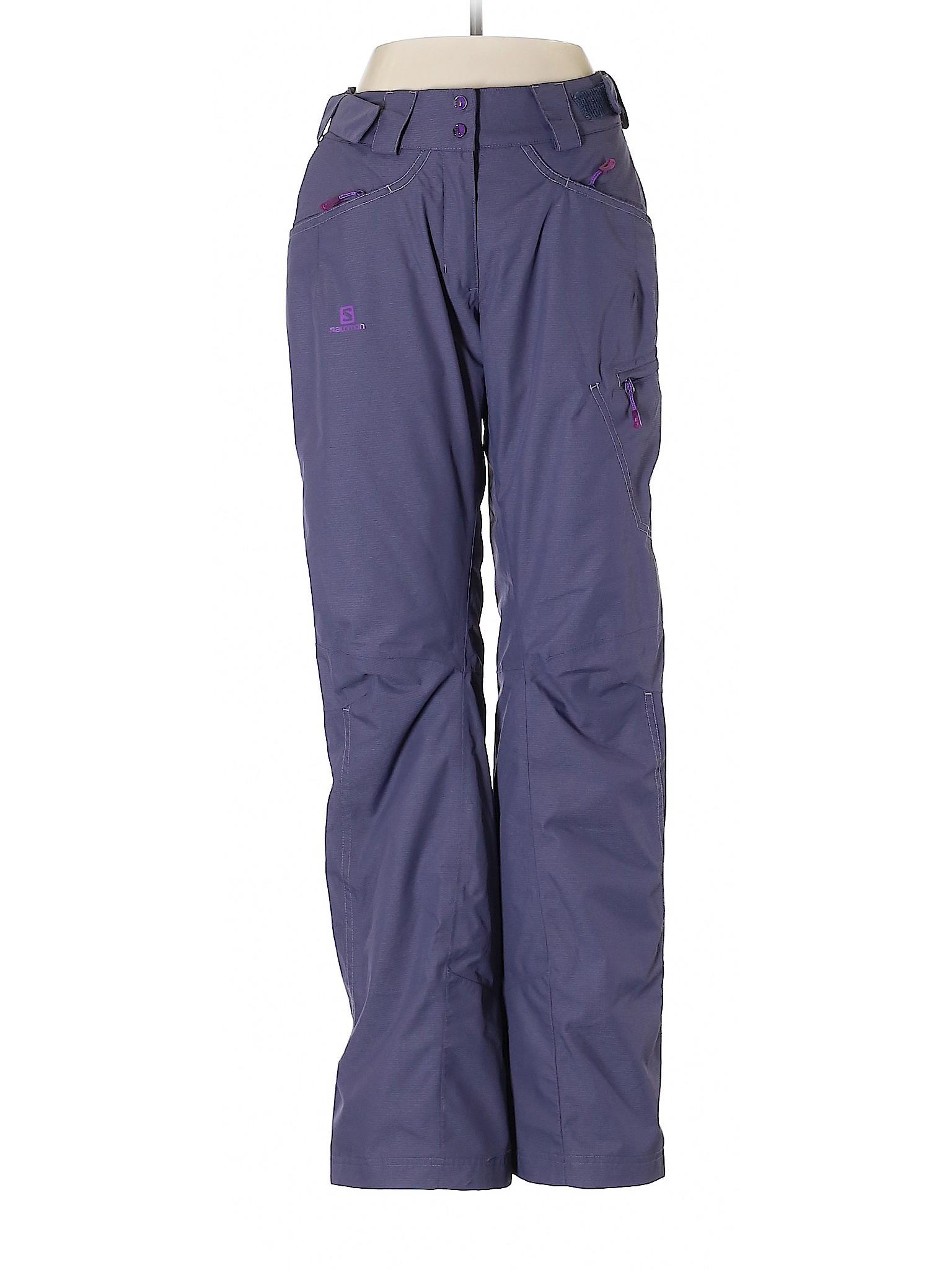 cdabbfe2f Details about Salomon Women Purple Snow Pants S