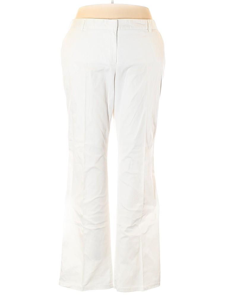 Lands' End Women Khakis Size 22 WIDE (Plus)