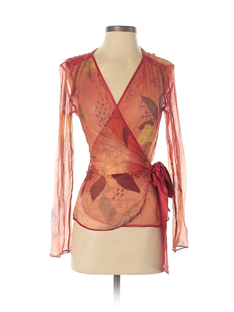 Max Mara Women Long Sleeve Silk Top Size 6