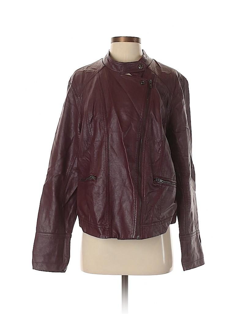 Torrid Women Faux Leather Jacket Size 2 (Plus)