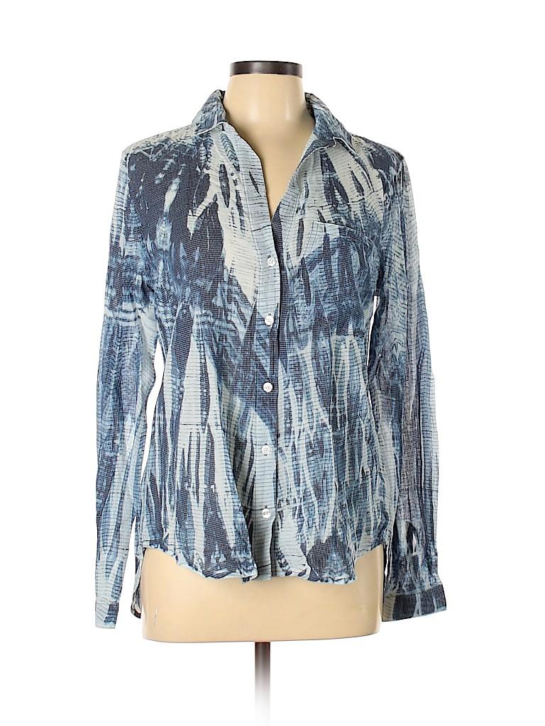 Cloth & Stone Women Long Sleeve Button-Down Shirt Size M
