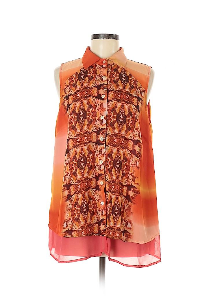 Style&Co Women Short Sleeve Blouse Size 0X (Plus)