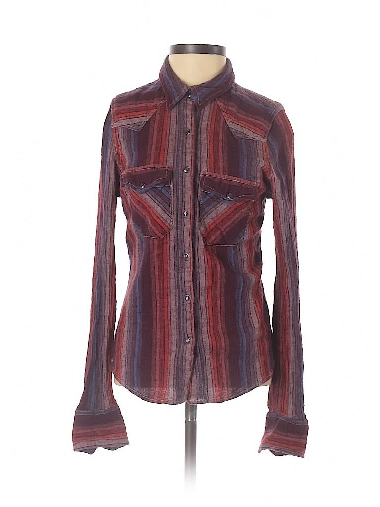Free People Women Long Sleeve Button-Down Shirt Size XS