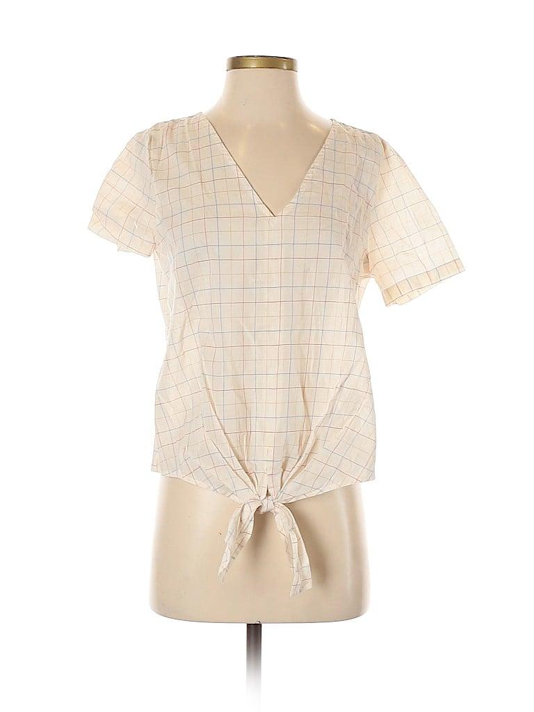 Madewell Women Short Sleeve Blouse Size S