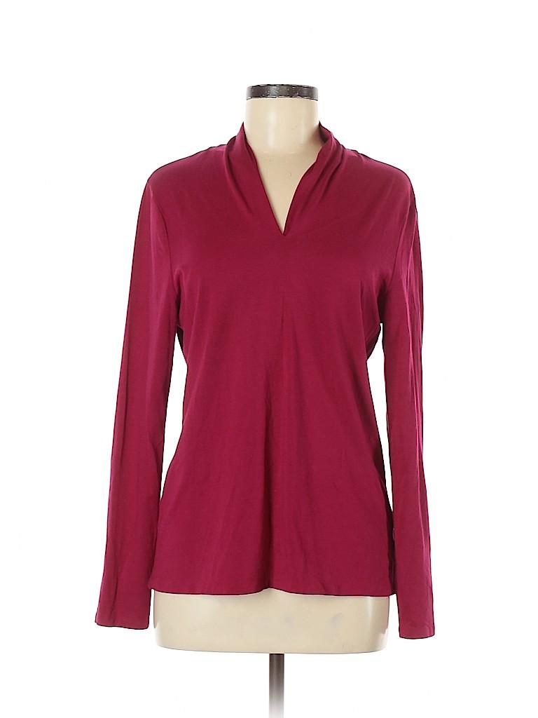 Talbots Women Long Sleeve Top Size L