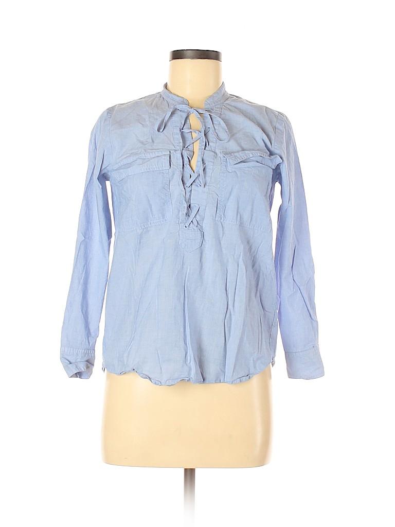 Madewell Women Long Sleeve Blouse Size XS