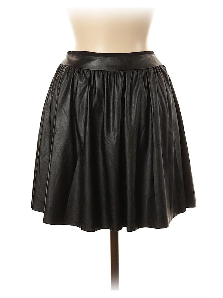 Alice & Trixie Women Faux Leather Skirt Size XS