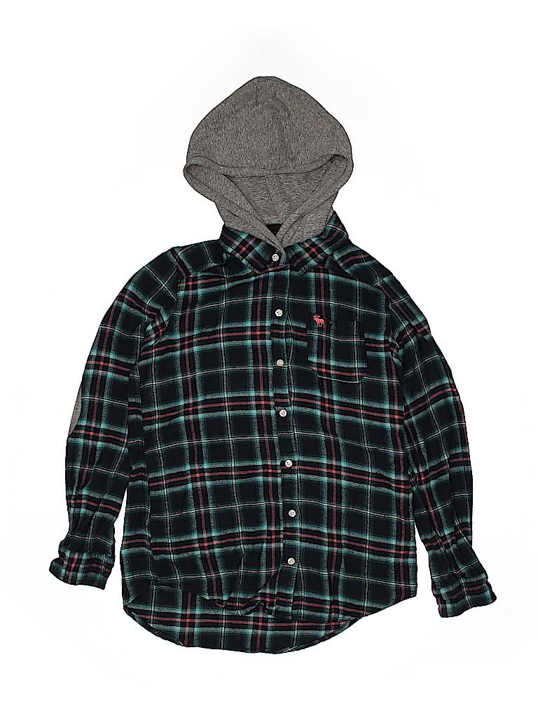 Abercrombie Girls Long Sleeve Button-Down Shirt Size 13 - 14