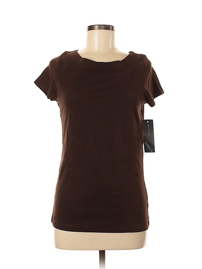 Jones New York Signature Women Short Sleeve T-Shirt Size M
