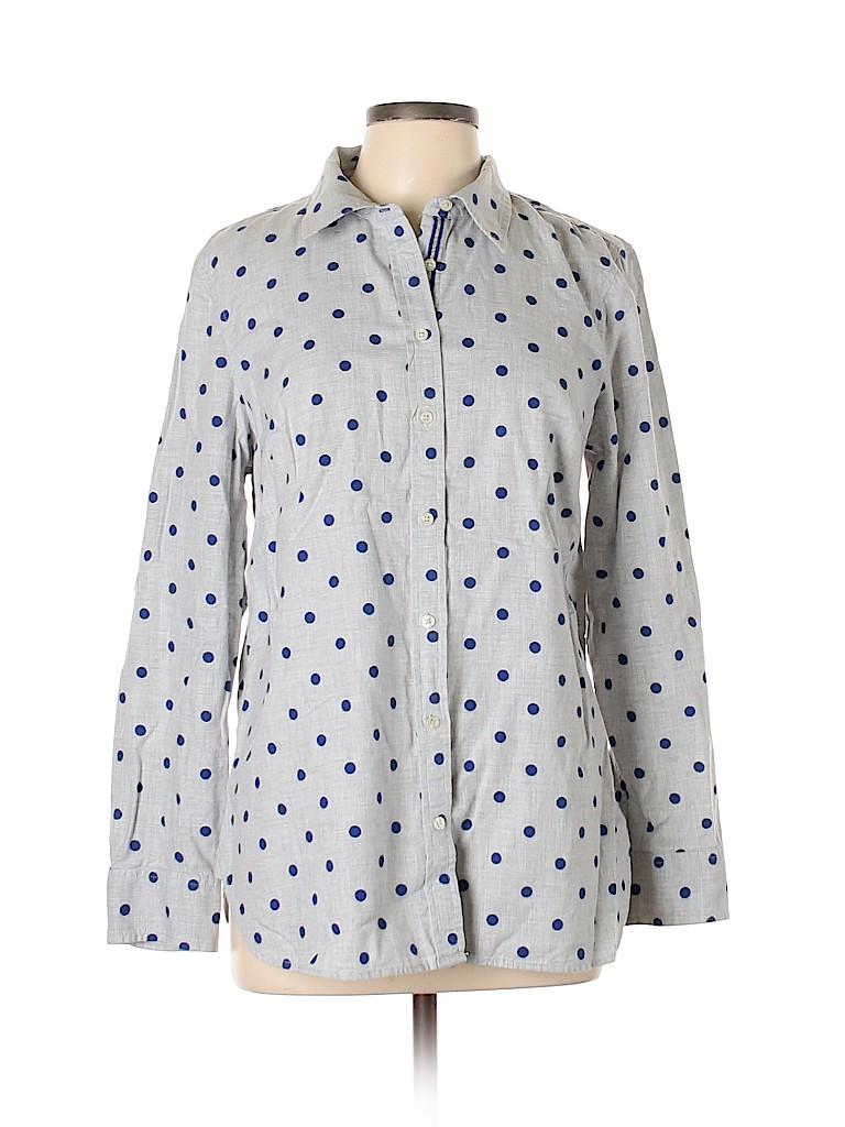 Talbots Women Long Sleeve Button-Down Shirt Size L