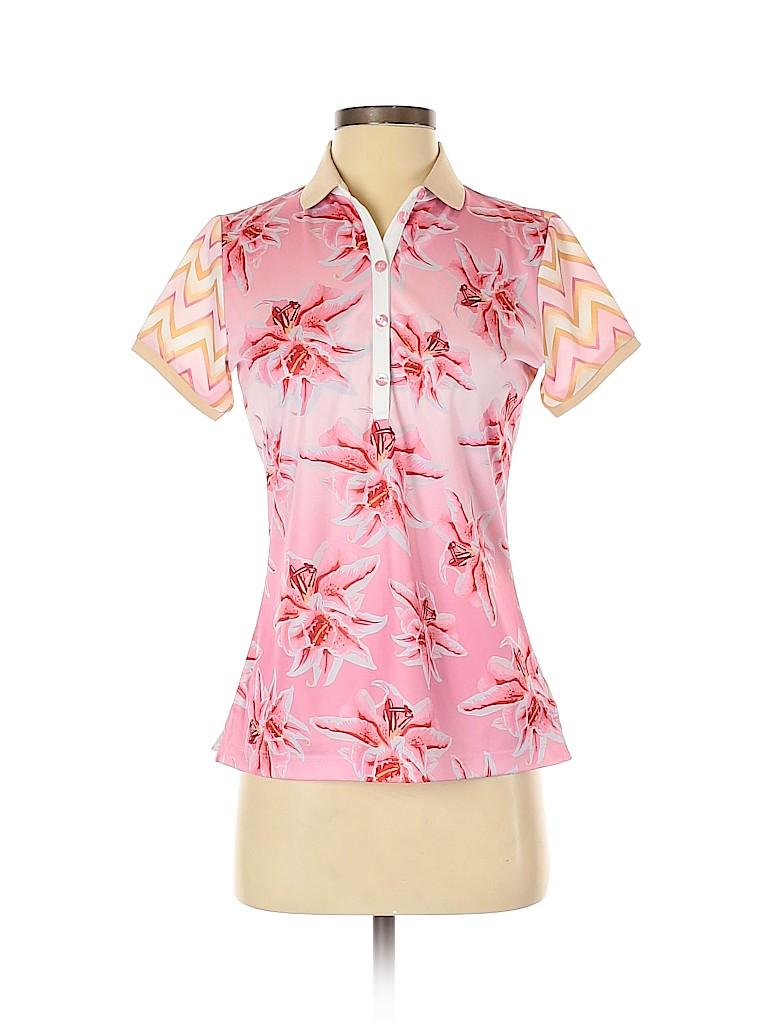 Bogner Women Short Sleeve Polo Size S
