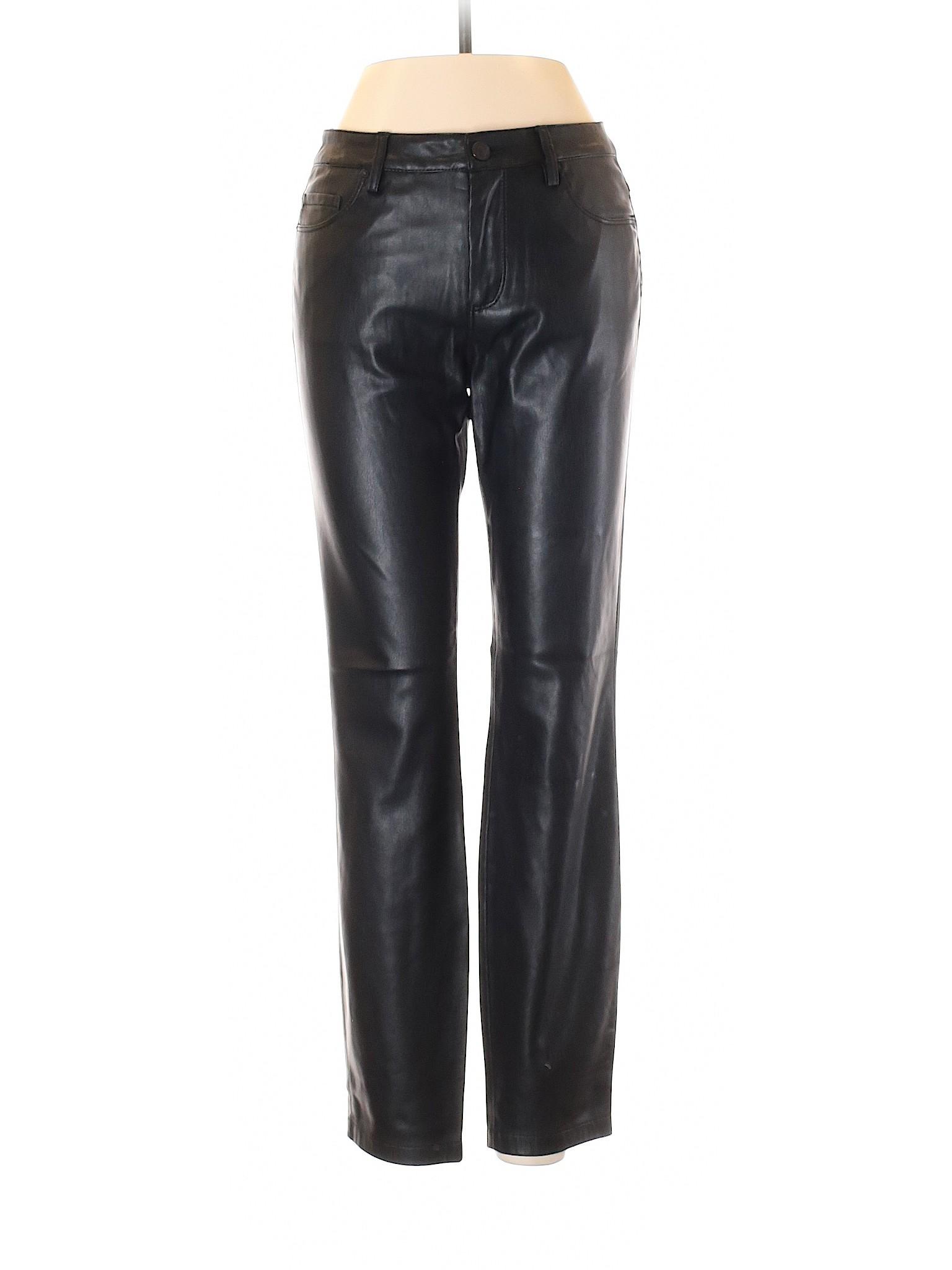b5c3669e Details about Zara Women Black Faux Leather Pants S