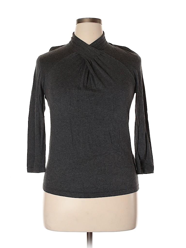 Jones New York Signature Women Pullover Sweater Size L