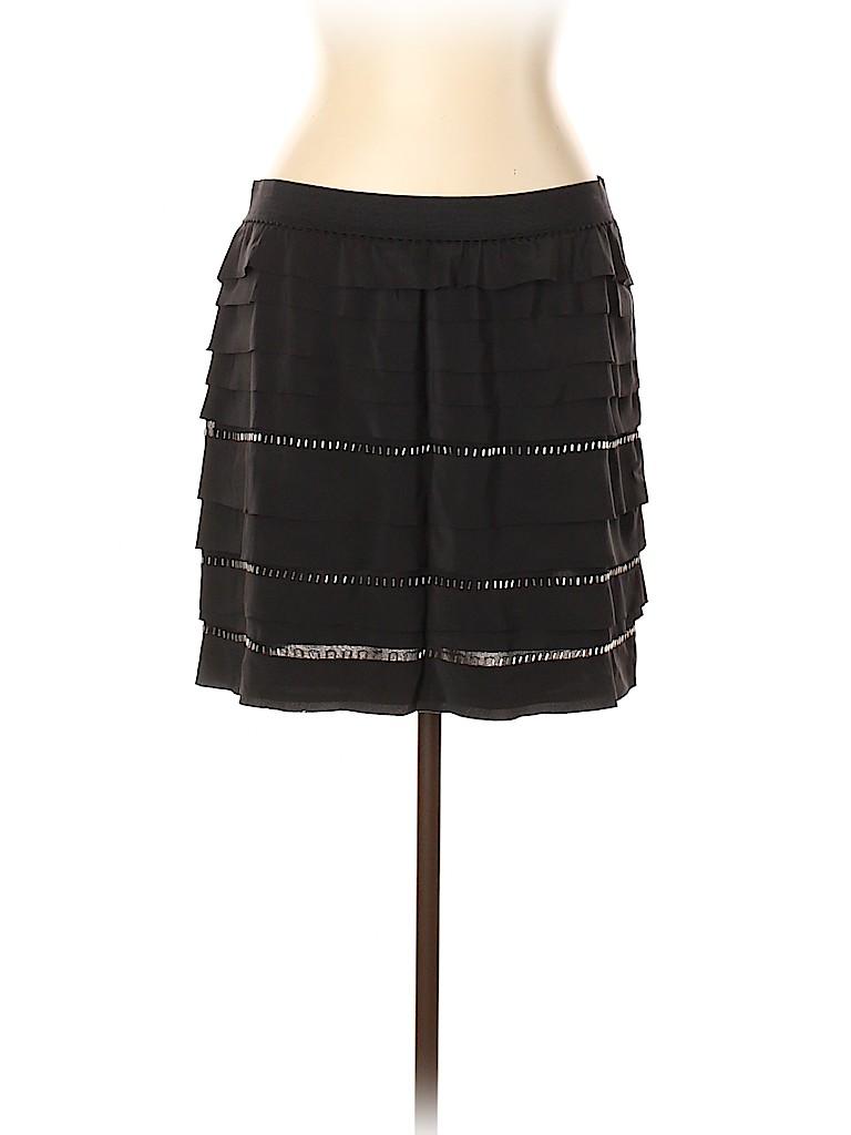 BCBGMAXAZRIA Women Silk Skirt Size L