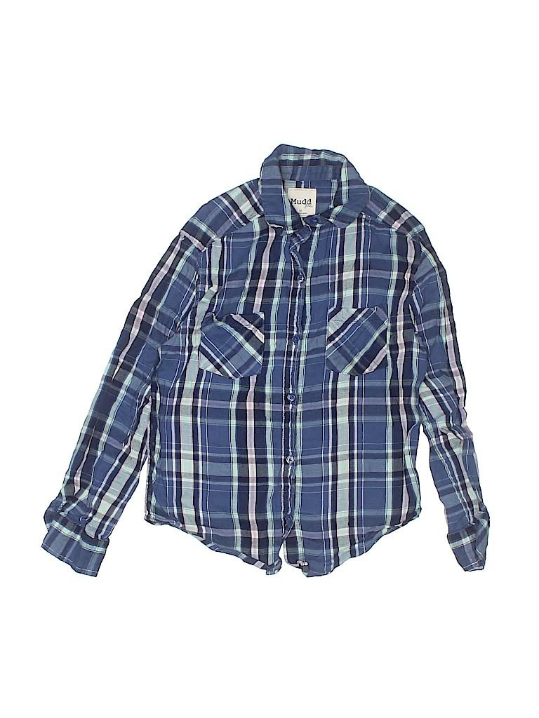 Mudd Girls Girls Long Sleeve Button-Down Shirt Size 10