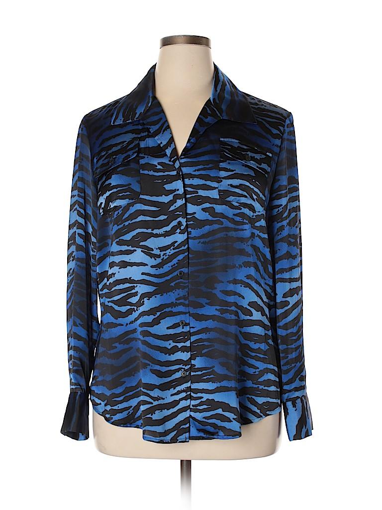Jones New York Signature Women Long Sleeve Blouse Size XL