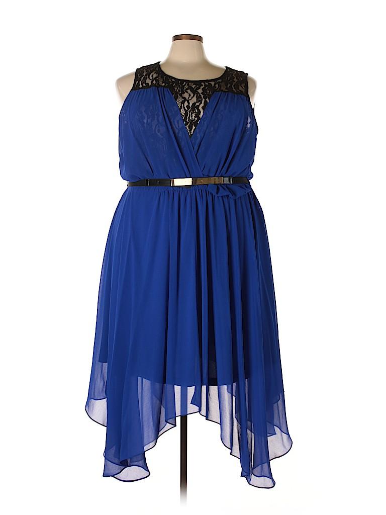 City Chic Women Cocktail Dress Size XXL (Plus)