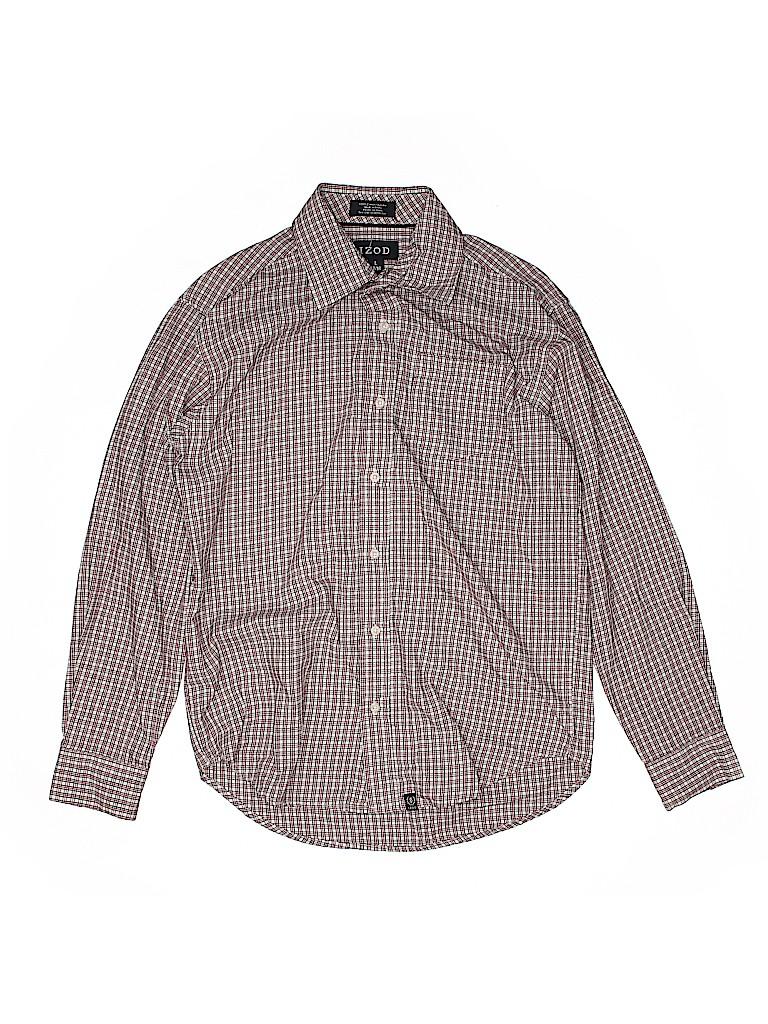 IZOD Boys Long Sleeve Button-Down Shirt Size 14