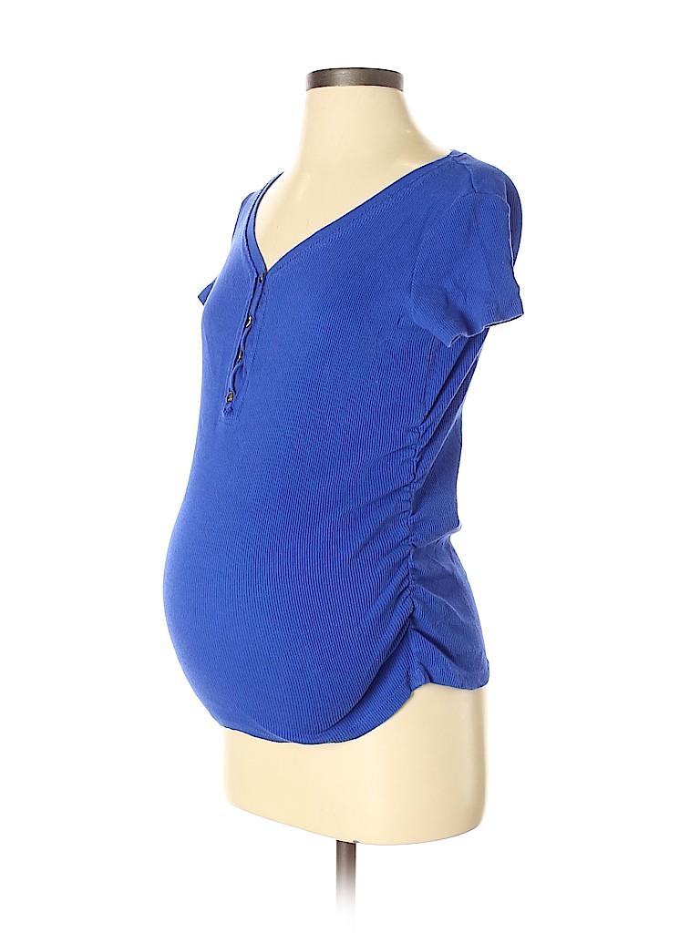 Inspire Maternity Women Short Sleeve Henley Size S (Maternity)