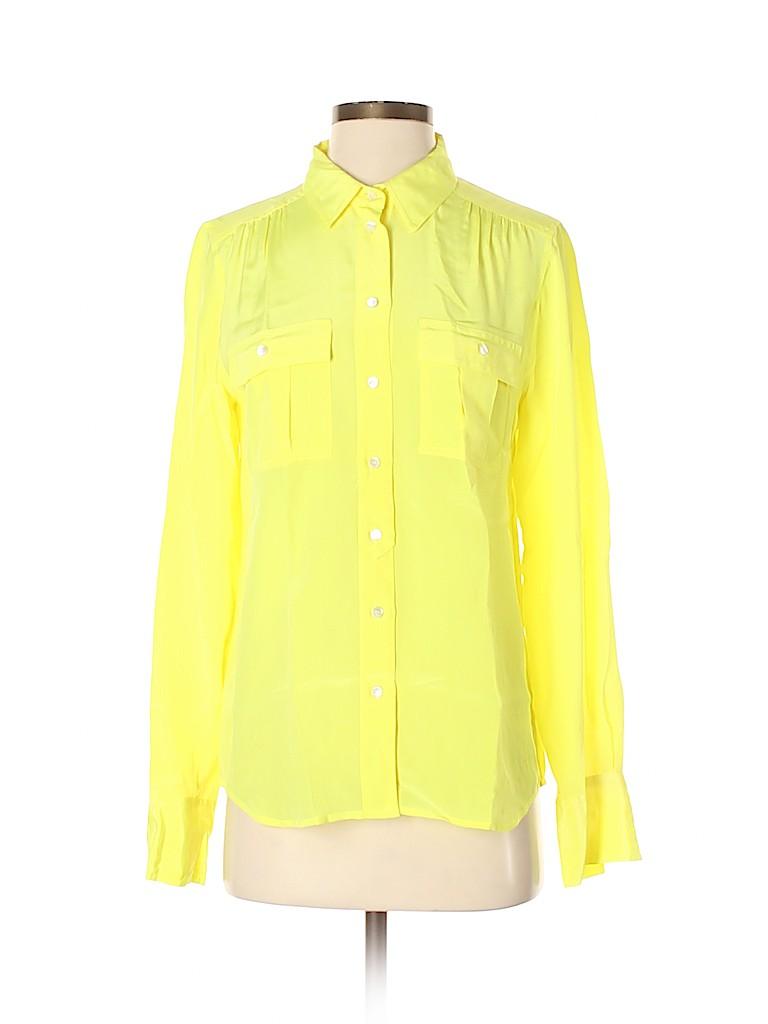 J. Crew Women Long Sleeve Silk Top Size 4