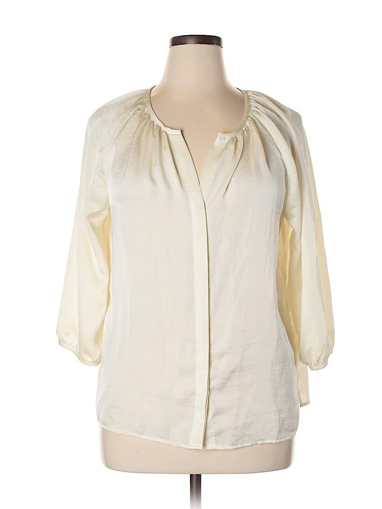 Talbots Women 3/4 Sleeve Blouse Size 14