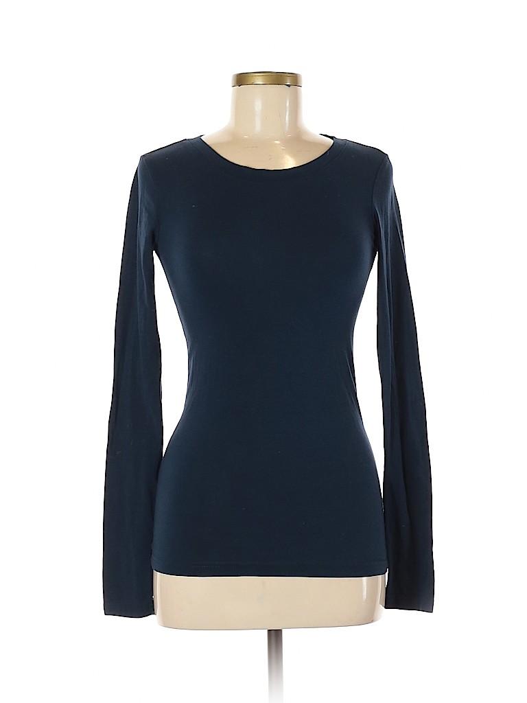 Planet Gold Women Long Sleeve T-Shirt Size M