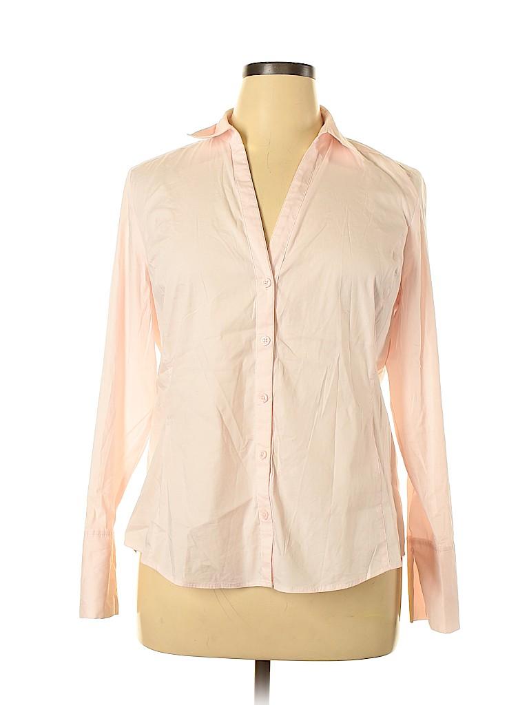 Ann Taylor Factory Women Long Sleeve Button-Down Shirt Size 16