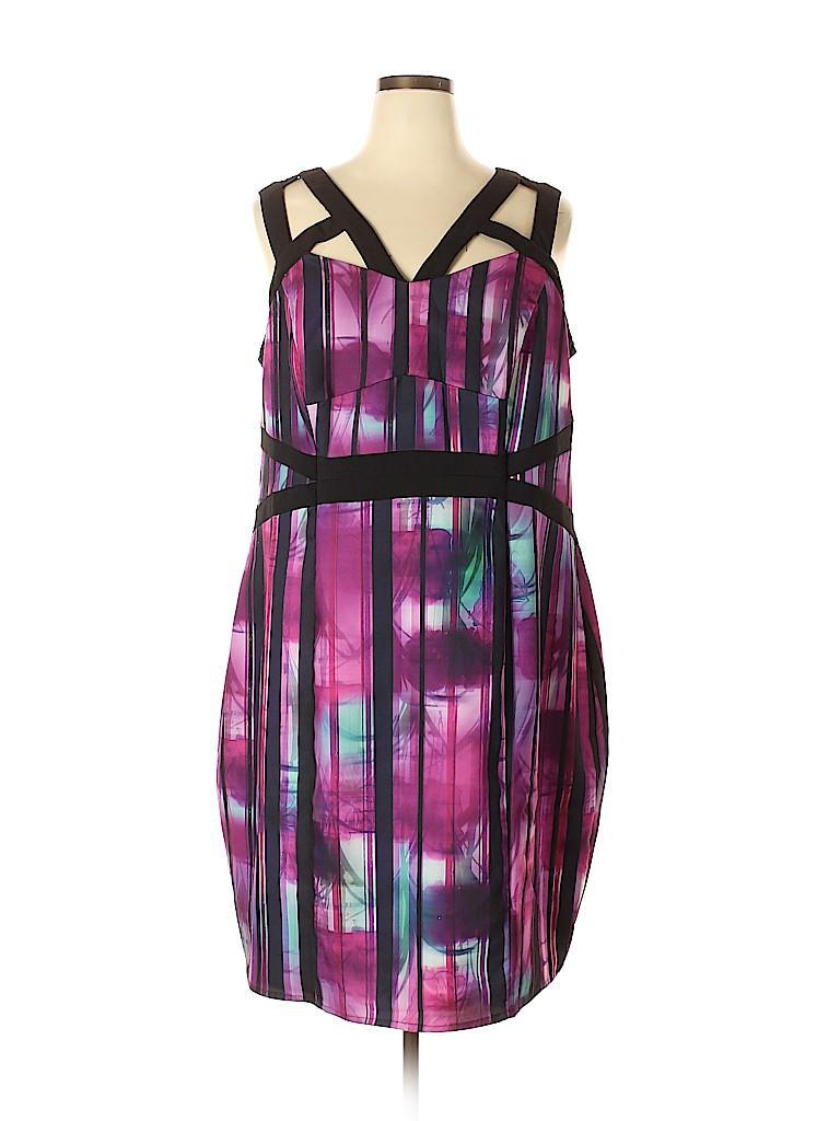City Chic Women Casual Dress Size 22 Plus (XL) (Plus)