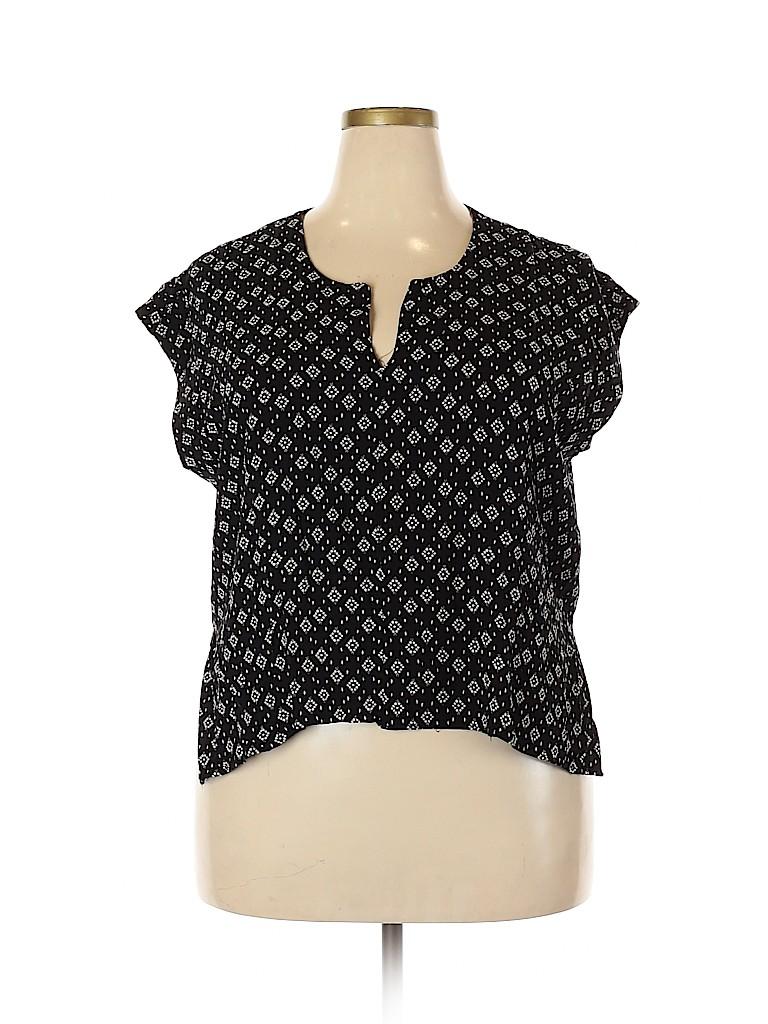 Universal Thread Women Short Sleeve Blouse Size XXL