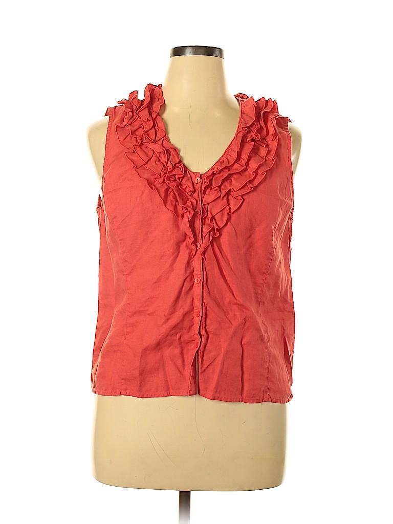 Jones New York Signature Women Sleeveless Blouse Size XL