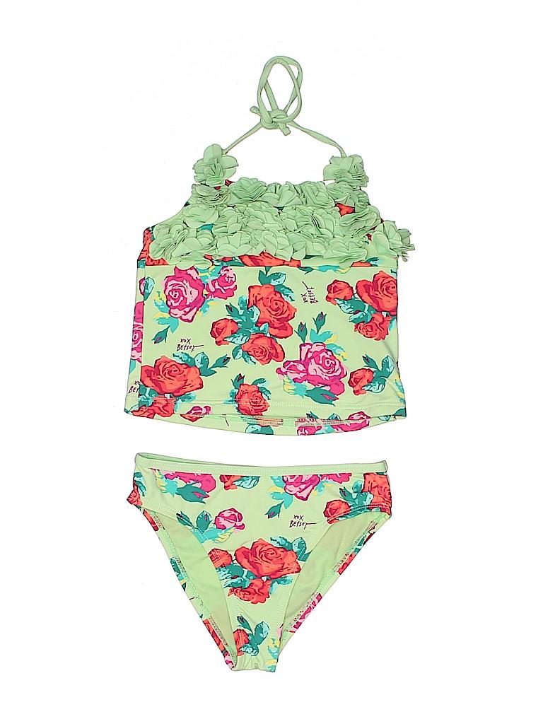 Betsey Johnson Girls Two Piece Swimsuit Size 4