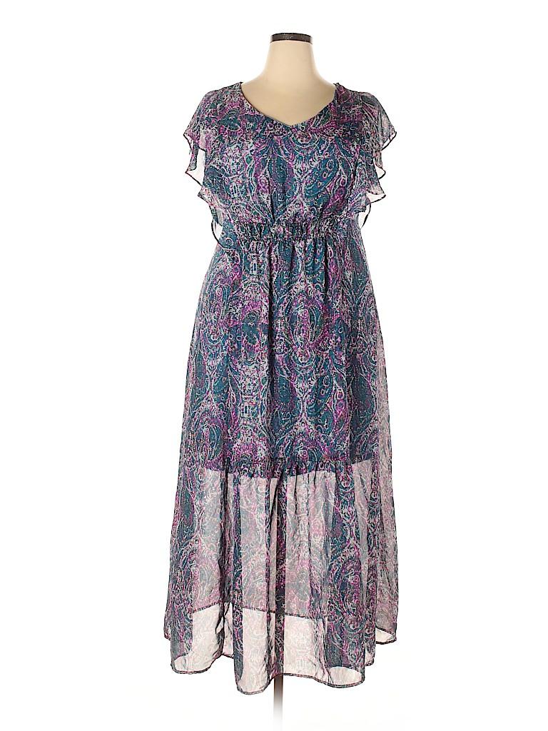 Women's Collection Women Casual Dress Size 1X (Plus)