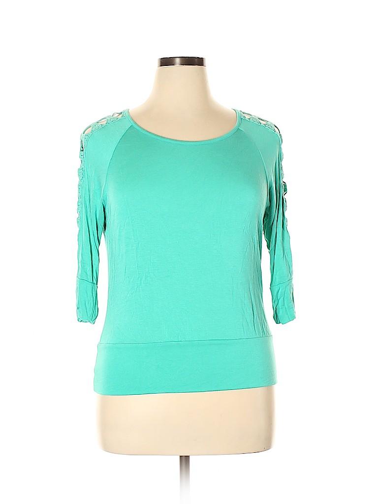 Iz Byer Women Long Sleeve Top Size XL