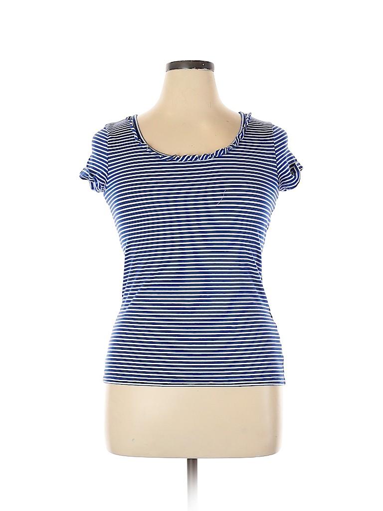 Jones New York Signature Women Short Sleeve T-Shirt Size L