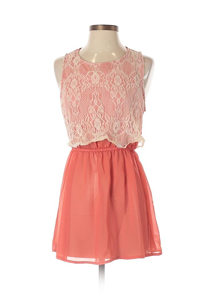 Lily White Women Casual Dress Size M