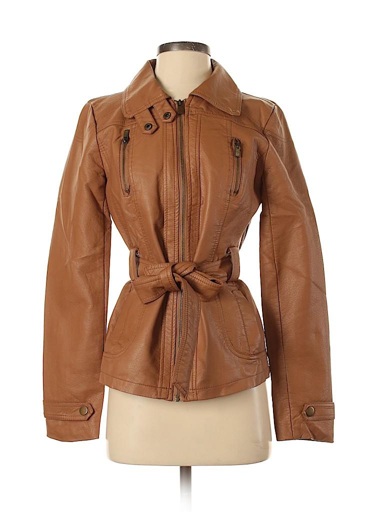 New Look Women Faux Leather Jacket Size S