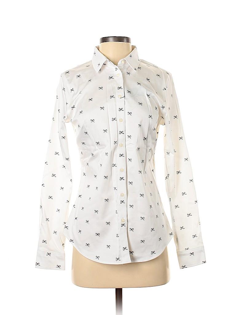 Banana Republic Factory Store Women Long Sleeve Button-Down Shirt Size 4