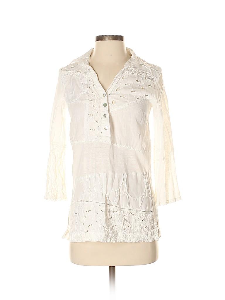 Unbranded Women 3/4 Sleeve Blouse Size XS