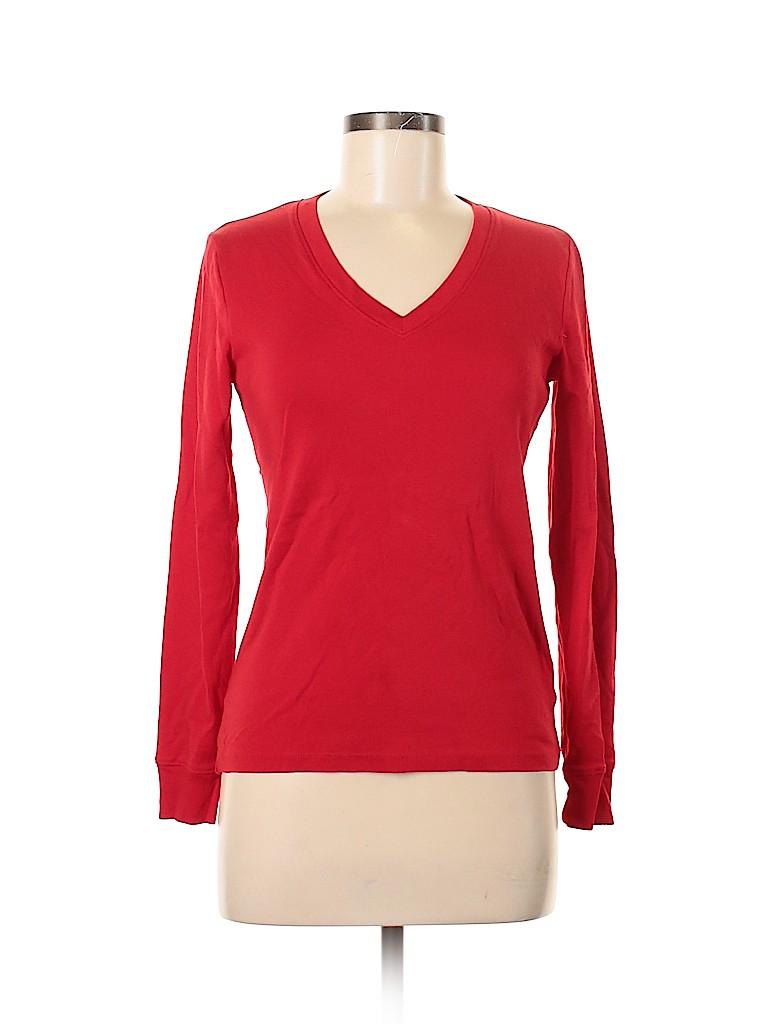 Jones New York Signature Women Long Sleeve T-Shirt Size S