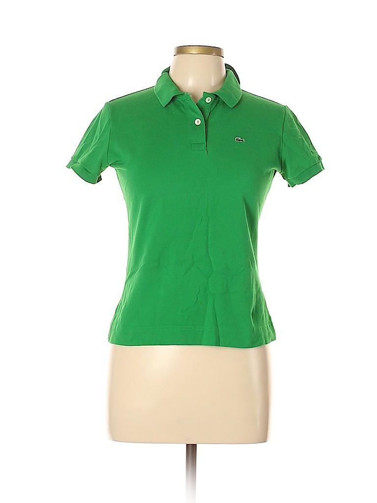 Lacoste Women Short Sleeve Polo Size 44 (EU)