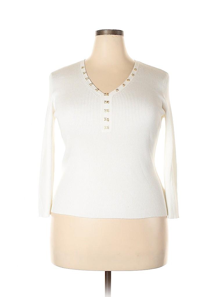 Jones New York Signature Women Long Sleeve Top Size XL