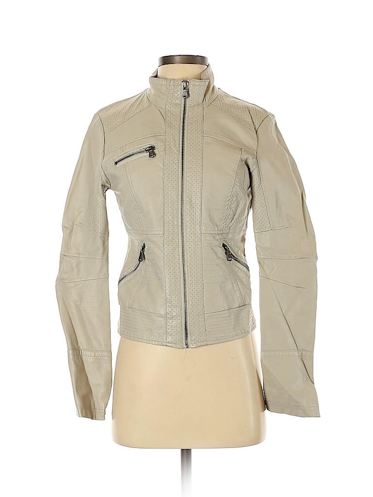 Xhilaration Women Faux Leather Jacket Size S
