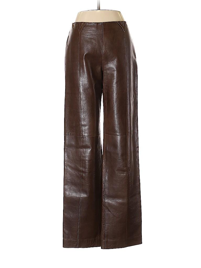 Armani Collezioni Women Leather Pants Size 6