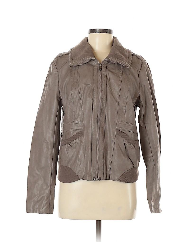 Xhilaration Women Faux Leather Jacket Size XL