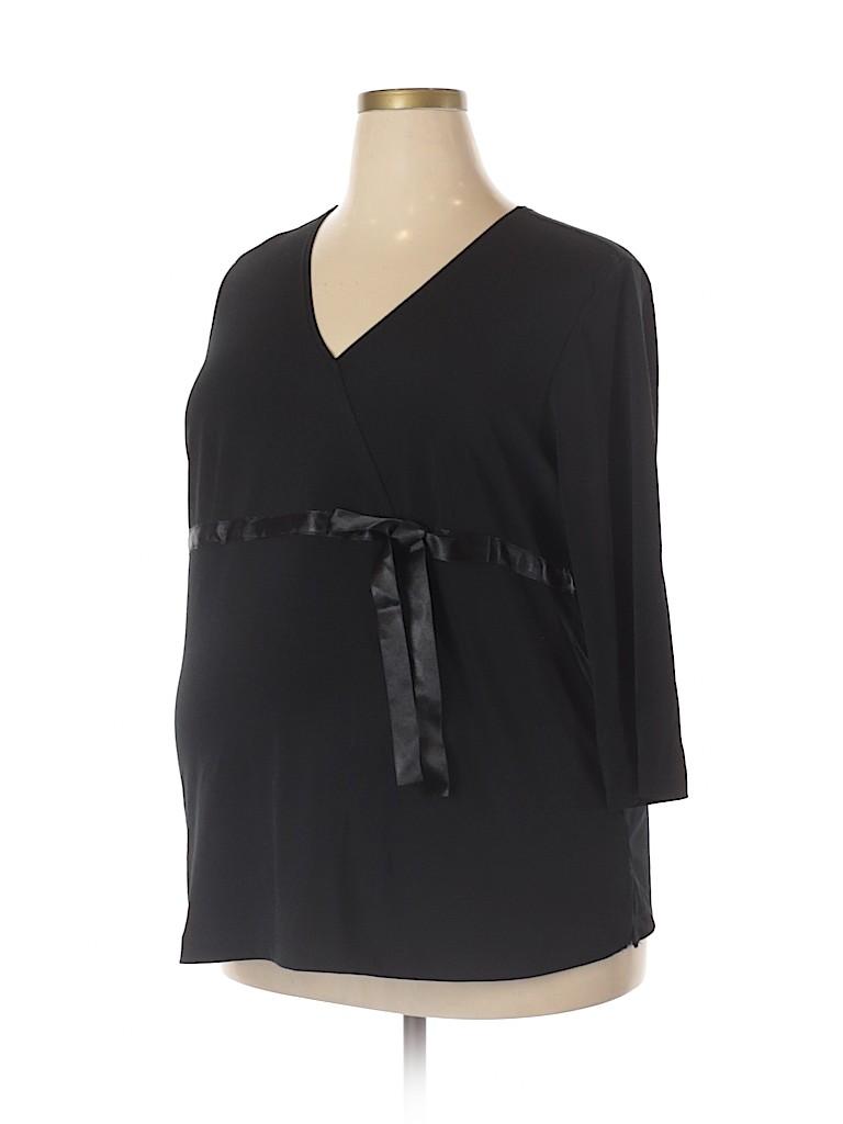 Liz Lange Maternity for Target Women 3/4 Sleeve Top Size XXL (Maternity)
