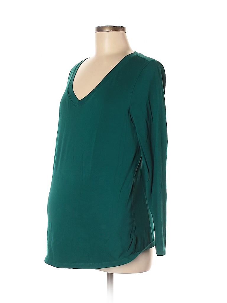DuO Women Long Sleeve T-Shirt Size M (Maternity)