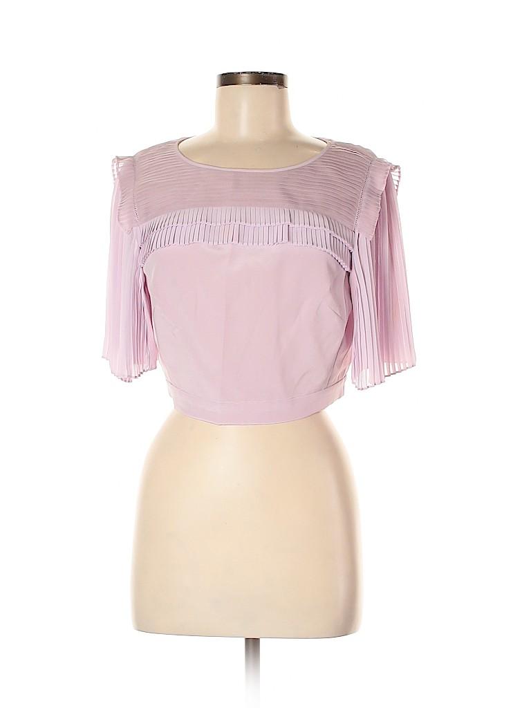 Rebecca Taylor Women Short Sleeve Silk Top Size 6
