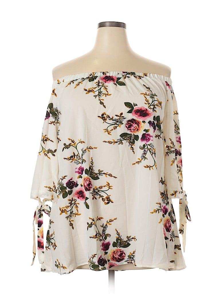 Zaful Women 3/4 Sleeve Blouse Size XXL