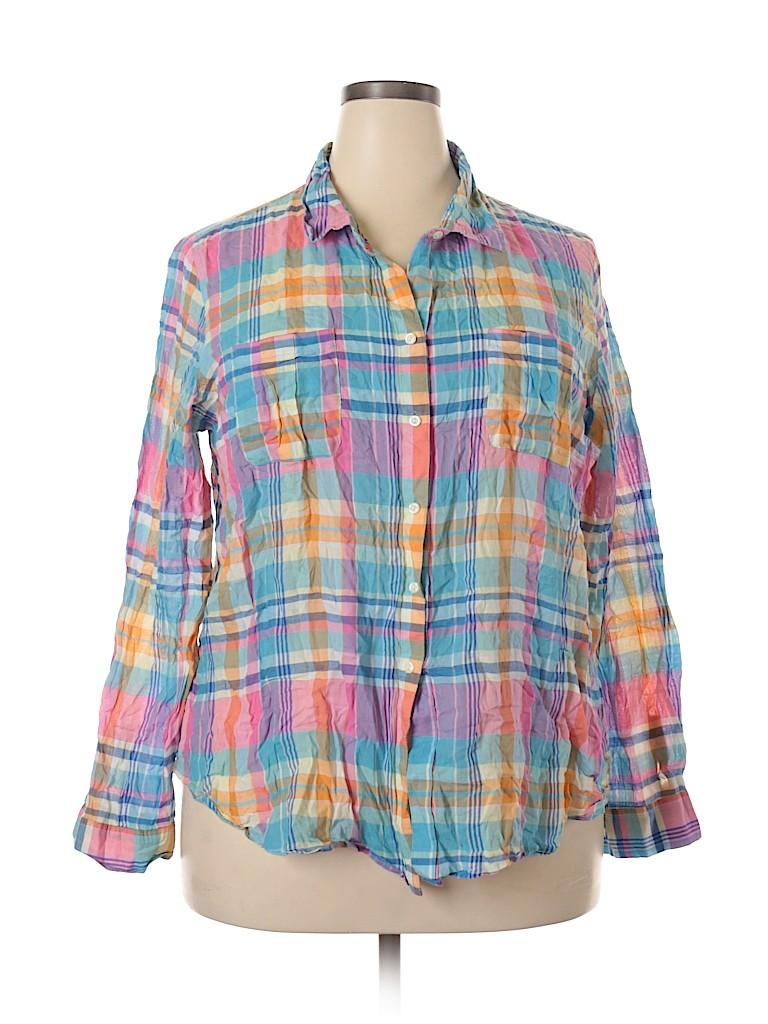 Old Navy Women Long Sleeve Button-Down Shirt Size XXL